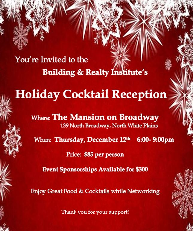Updated Holiday Party Flyer - BRI